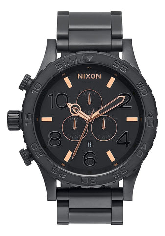 Nixon 51-30 Chrono All Black / Rose Gold