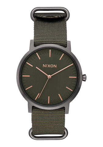 Nixon Porter Nylon Rose Gold / Gunmetal / Surplus