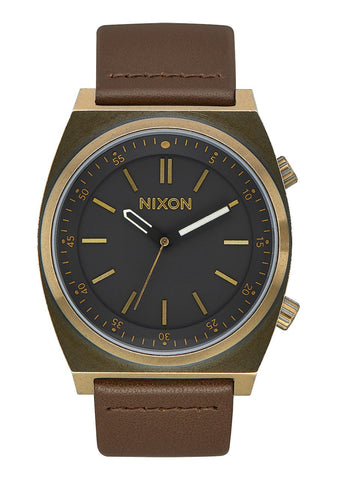 Nixon BRIGADE LEATHER Brass / Black / Taupe