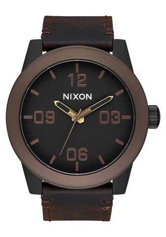Nixon Corporal All Black / Brown / Brass