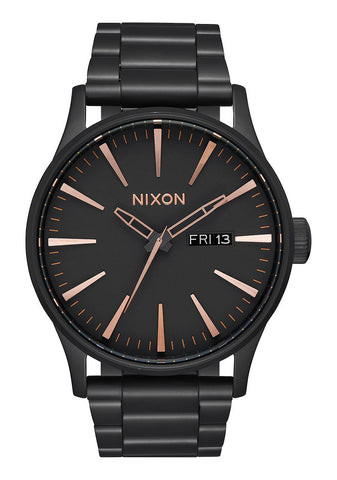 Nixon SENTRY SS Matte Black & Rose Gold