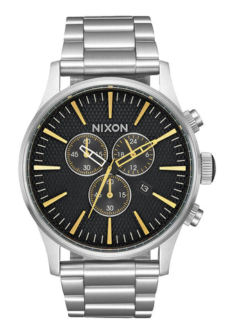 Nixon SENTRY CHRONO Black Stamped / Gold