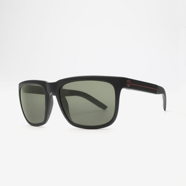 Electric KNOXVILLE XL S JJF Matte Black / Red Stripe w/ Grey Polarized