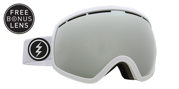 ELECTRIC EG2 White w/ Silver Chrome + Bonus Lens