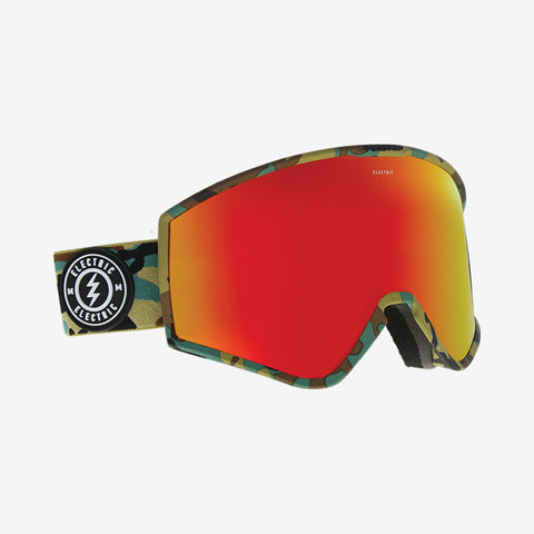 Electric 2019 KLEVELAND Camo w/ Red Chrome BROSE + Bonus lens