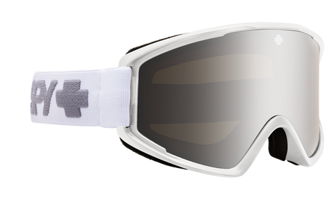 Spy CRUSHER ELITE 2020 Matte White w/ HD Silver Spectra Mirror