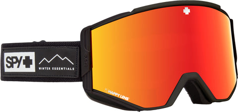 Spy ACE 2019 Essential Black w/ Happy Red Spectra + Bonus lens