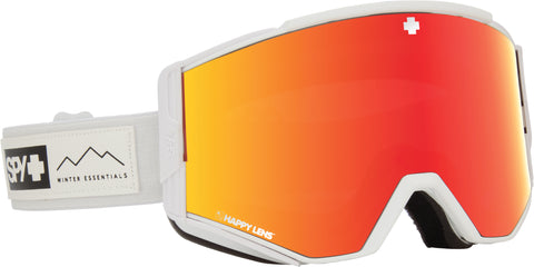 Spy ACE 2019 Essential White w/ Happy Red Spectra + Bonus lens