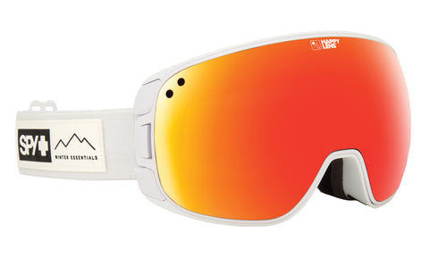 Spy BRAVO 2019 Asian Fit Essential White w/ Happy Red Spectra  + Bonus Lens