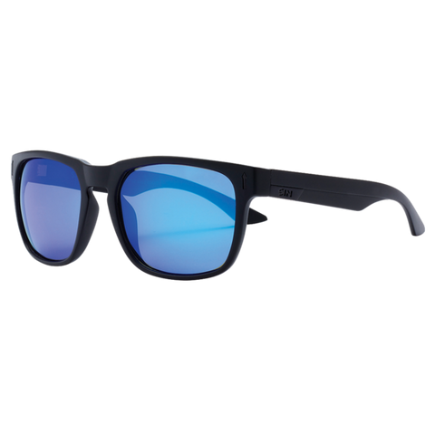 SIN Spartan Matte Raven Black w/ Blue Flash Polarised