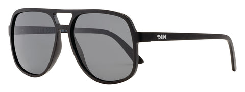 SIN The Boss Matte Raven Black w/ Smoke Polarised