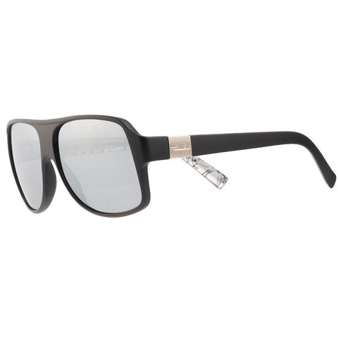 SIN The Cartel Matte Black w/ Silver Flash Polarised