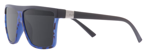 SIN Undertow Matte Raven Black & Blue w/ Smoke Polarised