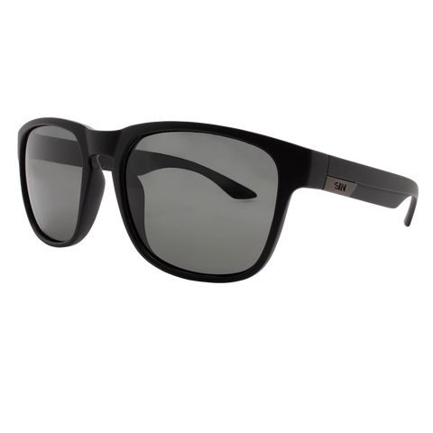 SIN Spartan Rubber Raven Black w/ Smoke Polarised
