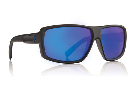 Dragon DOUBLE DOS Matte Black w/ Blue Ion P2 Polarised