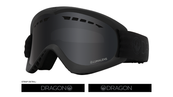 Dragon 2020 DX Blackout w/ Dark Smoke LumaLens