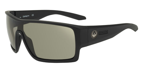 Dragon FLASH Matte Black w/ Smoke Grey Polarised LumaLens