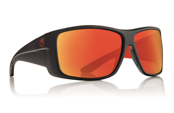 Dragon KIT Jet Black & Red w/ Red Ion Polarized P2