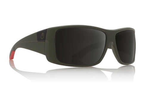 Dragon KIT Matte Green Utility w/ Grey Polarized P2