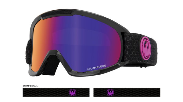 Dragon 2020 DX2 Split Black w/ Purple Ion Lumalens + Amber LumaLens