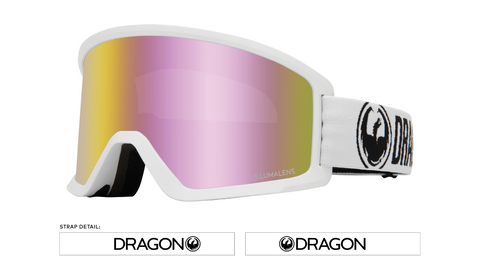 Dragon 2020 DX3 White w/ Pink Ion Lumalens