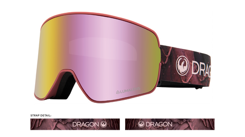 Dragon 2020 NFX2 Rose Pink w/ Pink Ion LumaLens + Dark Smoke Lumalens