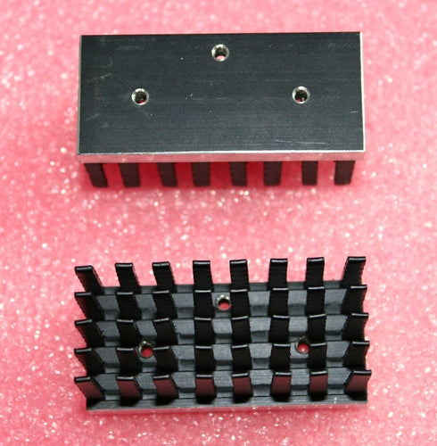 Black Aluminum Heatsink, 50mm x 24mm