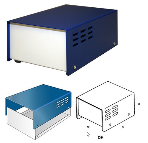 "LMB Heeger, OH542 Blue Vented Cabinet, size 5"" (D) x 4"" (W) x 2"" (H)"