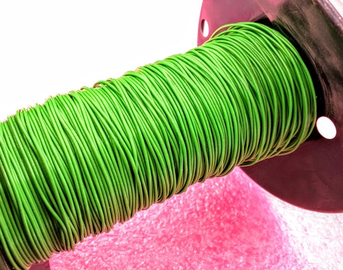 22 AWG Green, Stranded Polytetrafluoroethylene wire - By the foot