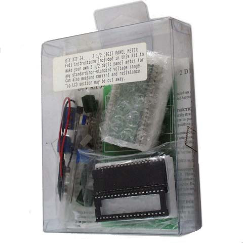 3.5 Digit LCD Panel Meter, KIT - Requires Assembly