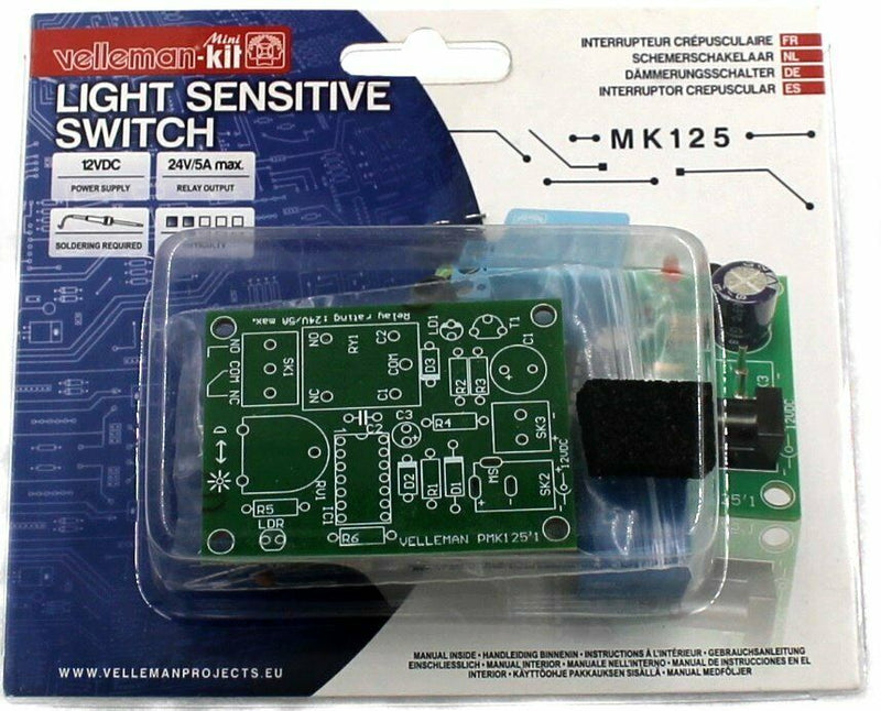 Light Sensitive Switch, KIT - Requires Assembly
