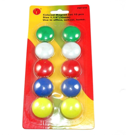 Colored, Magnets, Pkg of 10