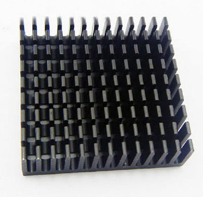 Black anodized Heatsink, 40mm v 40mm