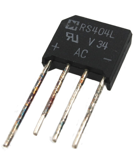 RS404L, Bridge Rectifier, 400V, 4A