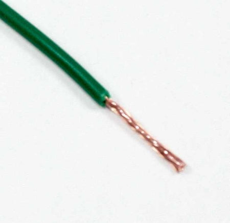 18 AWG Green, Stranded PVC Wire 100 ft.