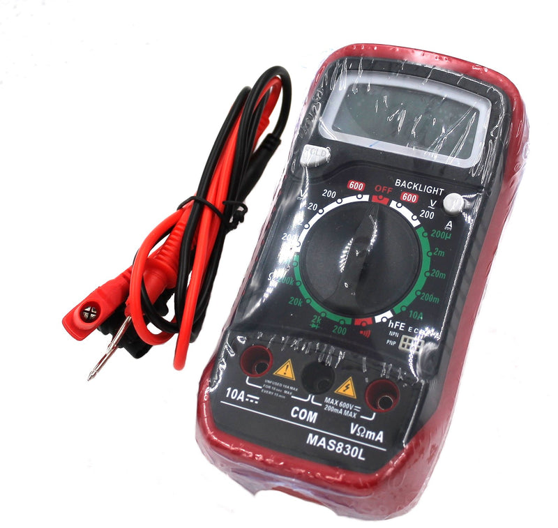 Digital Multimeter with AC/DC, Resistance, Capacitance, Transistor and Diode Testing Capabilities