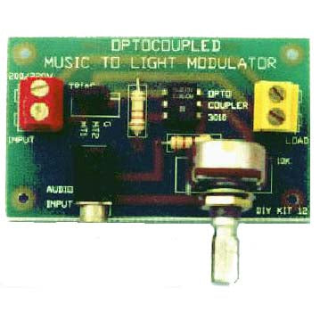 Audio To Light Modulator, KIT - Requires Assembly