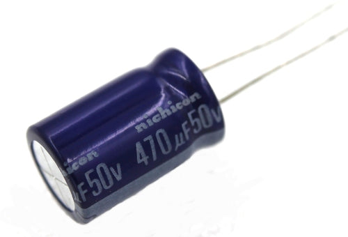 Nichicon, Radial Electrolytic Capacitor 470µF 50 V