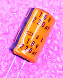 220uF 16V, Radial Electrolytic Capacitor