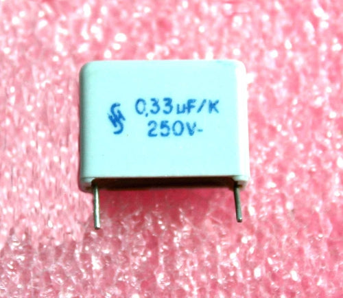 0.33uF, 250VDC Siemens High stability Capacitor