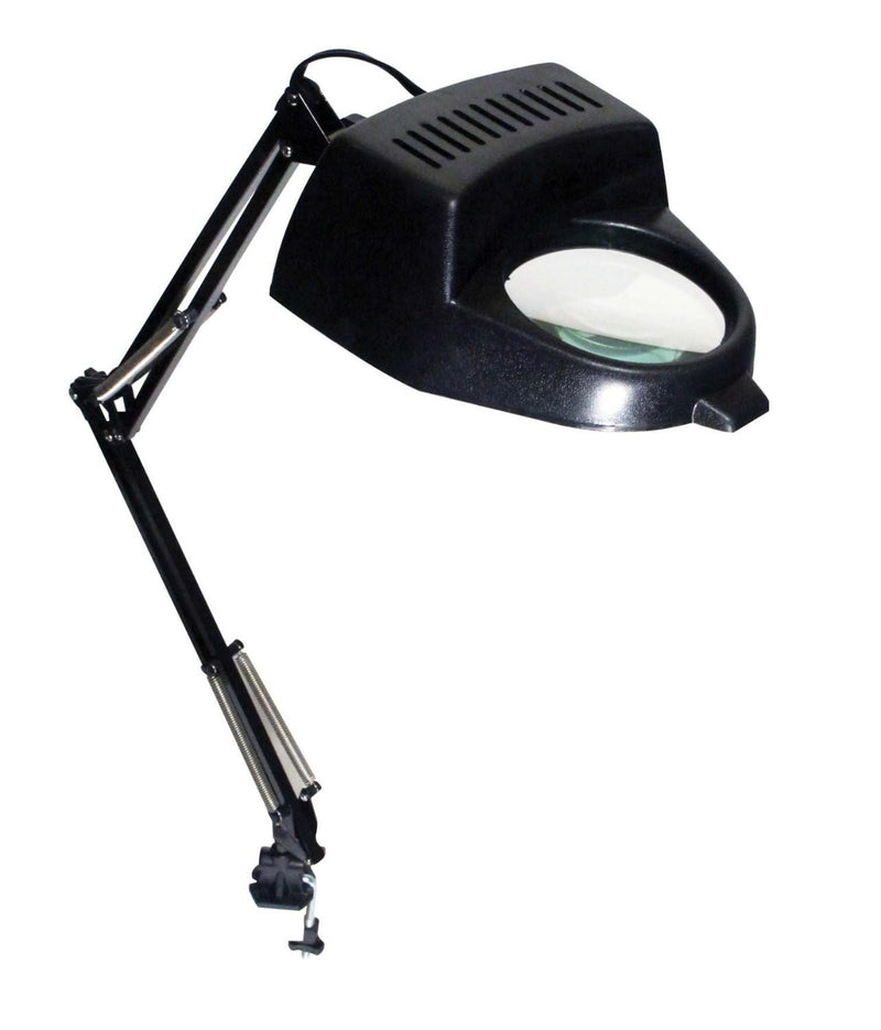 2X Illuminated Table Magnifier with Clamp