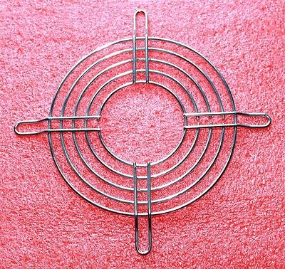 "Fan Guard, Bright Metal, Fits a 4-3/4"" (120mm) Fan"