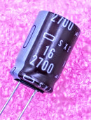 2700uF 16V, Radial Electrolytic Capacitor