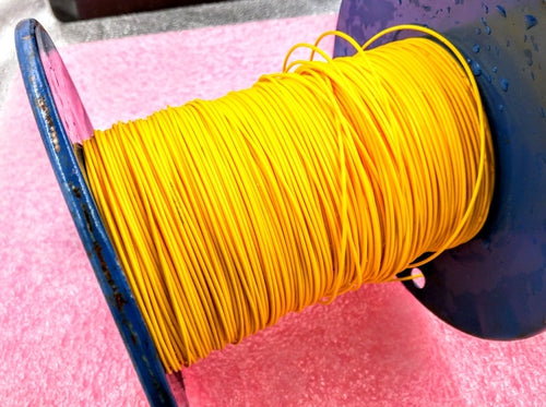 22 AWG Yellow Stranded polytetrafluoroethylene Wire, By the foot