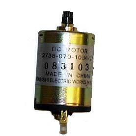 12V DC Motor with Plastic Gear and Rear Shaft