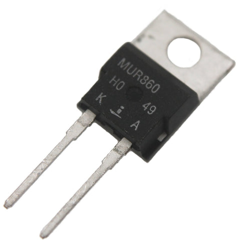 MUR860, 8A, 600V Power Rectifier