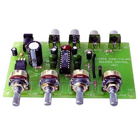 Stereo Preamp and Tone Control, KIT - Requires Assembly