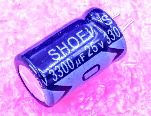 3300uF 25V, Radial Electrolytic Capacitor