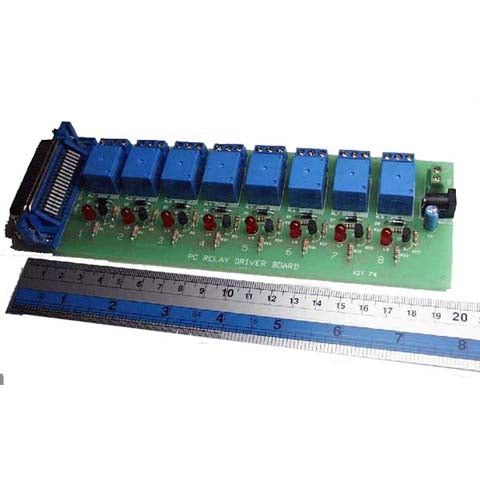 PC Printer Port Relay Board, KIT - Requires Assembly