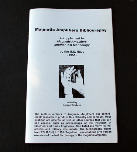 Magnetic Amplifiers, Bibliography - 500 References